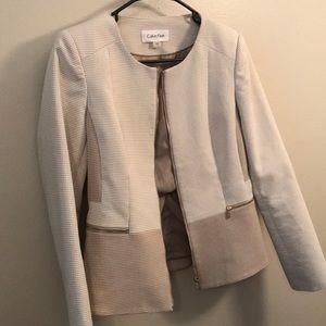 Calvin Klein Women's work blazer taupe size 8